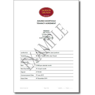 Sample Assured Shorthold Tenancy Agreement