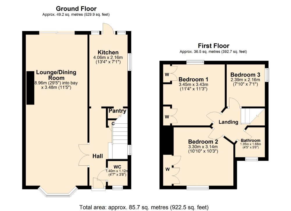 Floorplan for Beech Grove, Boothville, Northampton