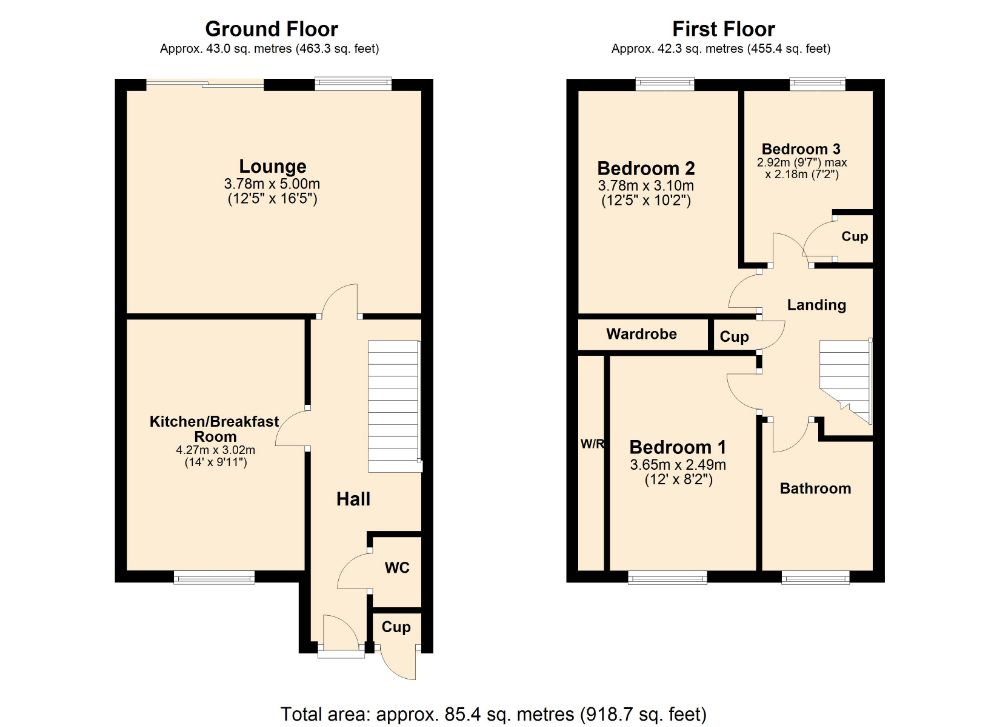 Floorplan for Knights Court, Little Billing, Northampton