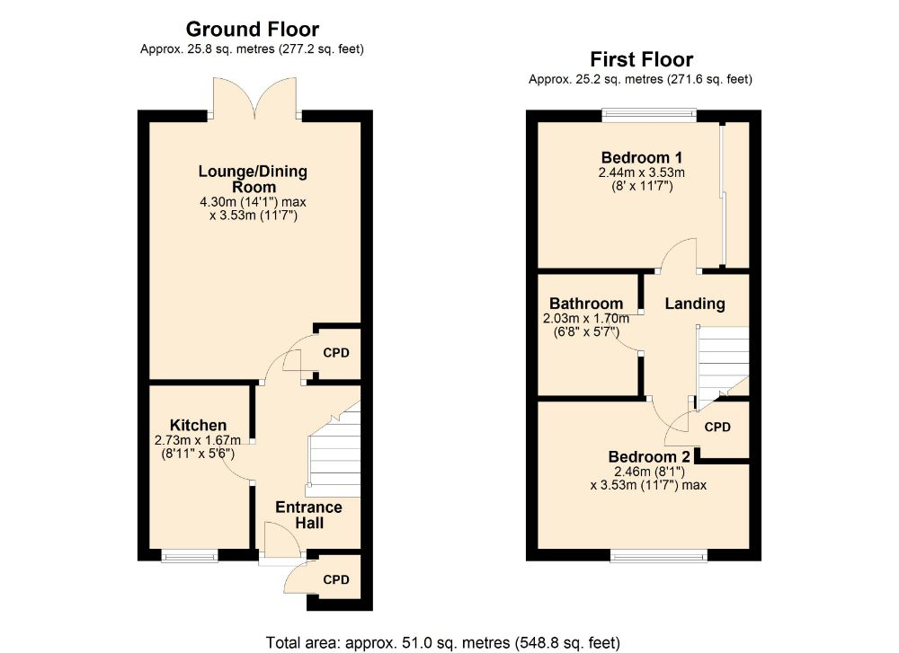 Floorplan for Mill Meadow, Kingsthorpe, Northampton