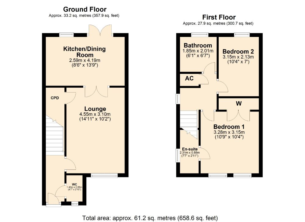 Floorplan for Howards Way, Moulton Park, Northampton