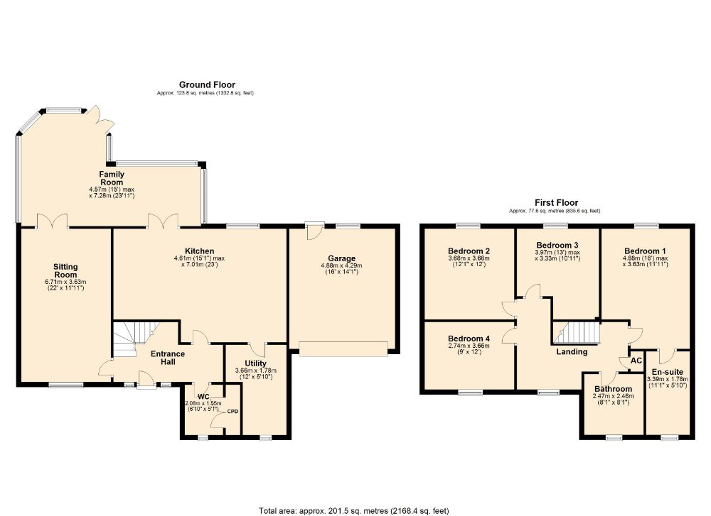 Floorplan for Barley Croft, Crick, Northampton